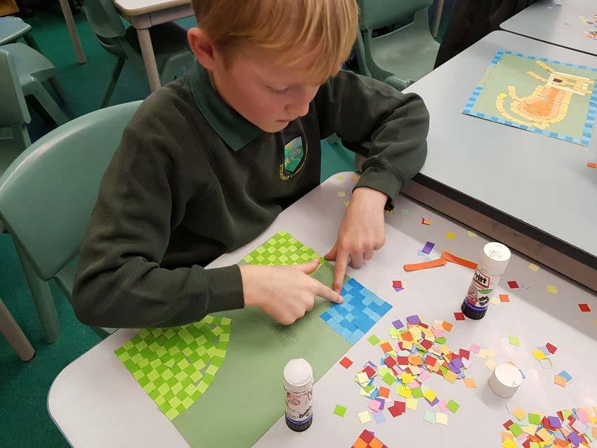 Roman Mosaics In Class 3